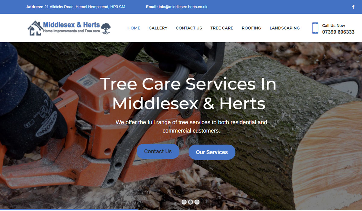 Middlesex & Herts Home Improvements and Tree care